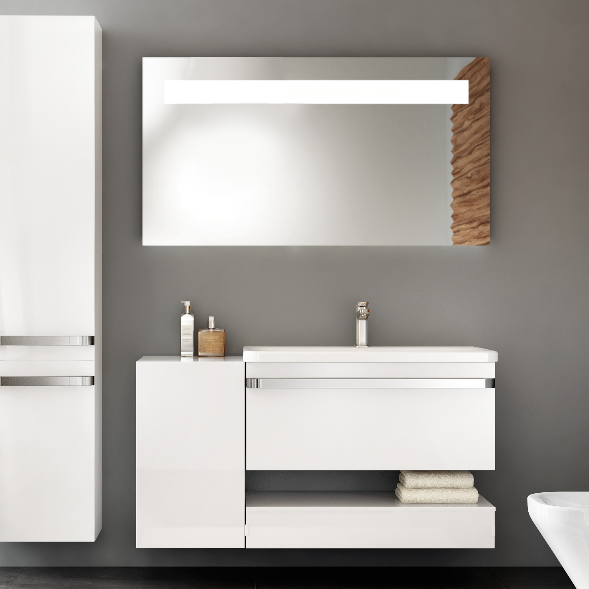 ideal standard tonic ii m bel waschtisch 81 5 cm o berlauf inkl idealflow wei mit ideal. Black Bedroom Furniture Sets. Home Design Ideas