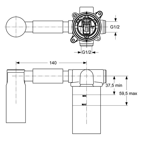 ideal standard unterputz bausatz 1 f r wand waschtischarmatur a4265nu reuter onlineshop. Black Bedroom Furniture Sets. Home Design Ideas
