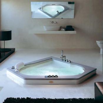 jacuzzi aura corner 140 eck whirlpool l 140 b 140 h 60 cm mit wannenf llarmatur wanne und. Black Bedroom Furniture Sets. Home Design Ideas