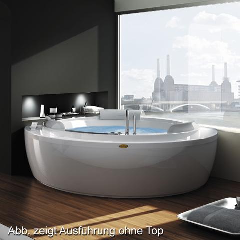 jacuzzi nova base eck whirlpool l 160 b 160 h 66 cm mit top mit wannenarmatur weng. Black Bedroom Furniture Sets. Home Design Ideas