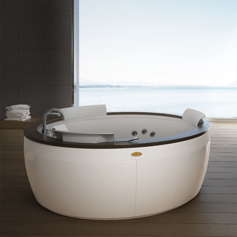 jacuzzi nova top runder whirlpool 180 x 66 cm mit sch rze mit armatur weng 9f43 571a. Black Bedroom Furniture Sets. Home Design Ideas