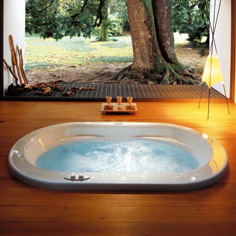 Jacuzzi opalia oval whirlpool l 190 b 110 h 60 cm mit for Whirlpool garten mit leeb balkone preise