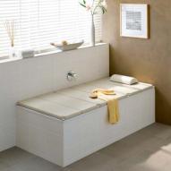 Kaldewei Relaxliege L: 180 B: 80 cm für Conoduo Badewanne beige