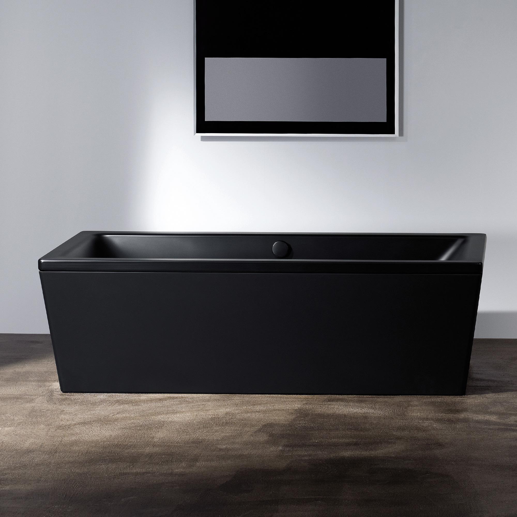 kaldewei conoduo freistehende badewanne mit verkleidung lavaschwarz matt 235148050717 reuter. Black Bedroom Furniture Sets. Home Design Ideas
