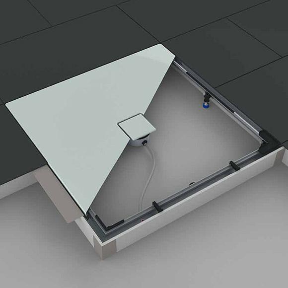 kaldewei einbau system rahmen esr ii f r duschwannen viertelkreis fontana 584574480000. Black Bedroom Furniture Sets. Home Design Ideas