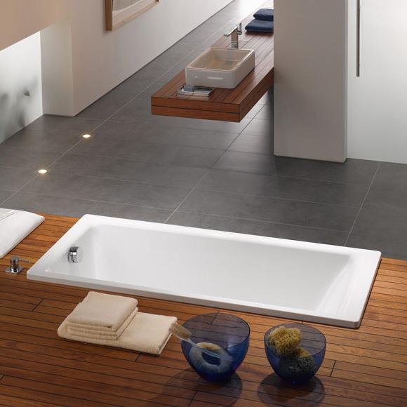 kaldewei puro rechteck badewanne berlauf seitlich wei 258400010001 reuter onlineshop. Black Bedroom Furniture Sets. Home Design Ideas