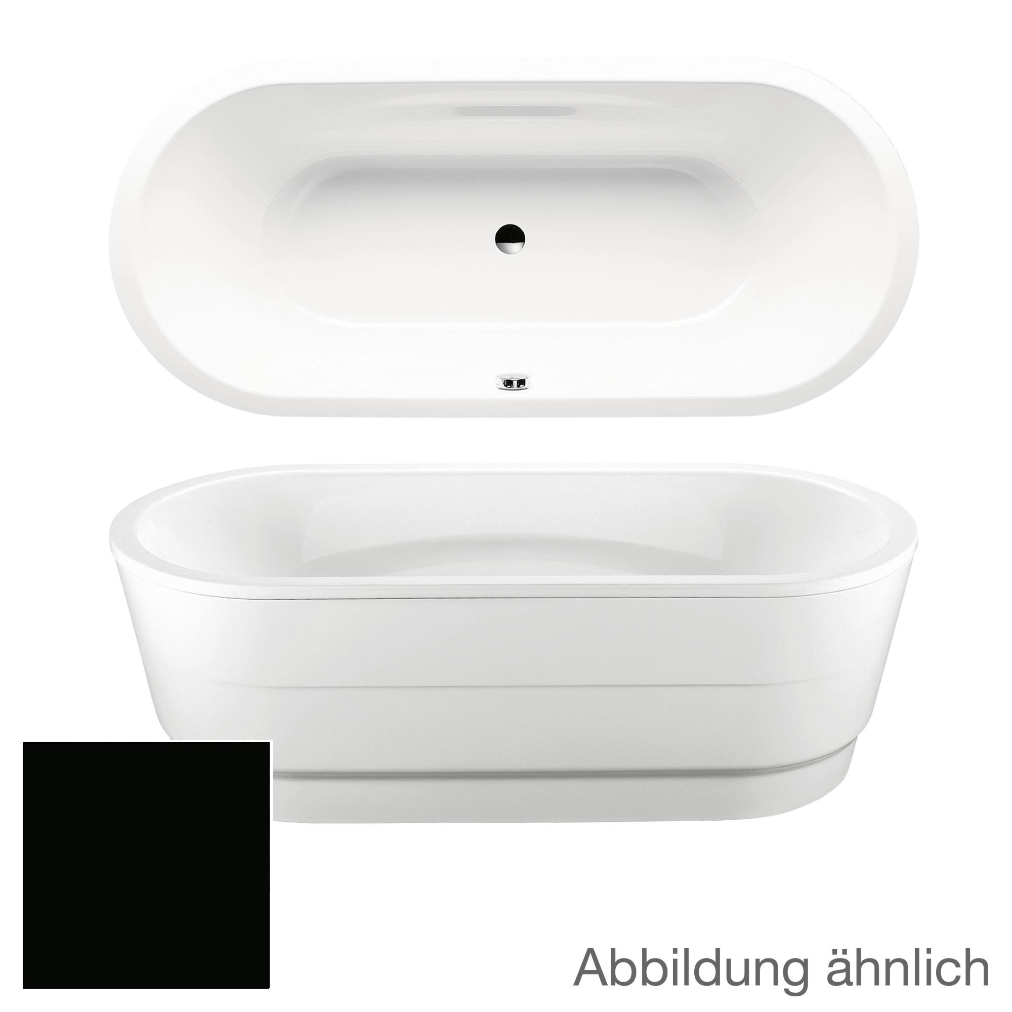 kaldewei vaio duo oval freistehende badewanne schwarz 233148050701 reuter onlineshop. Black Bedroom Furniture Sets. Home Design Ideas