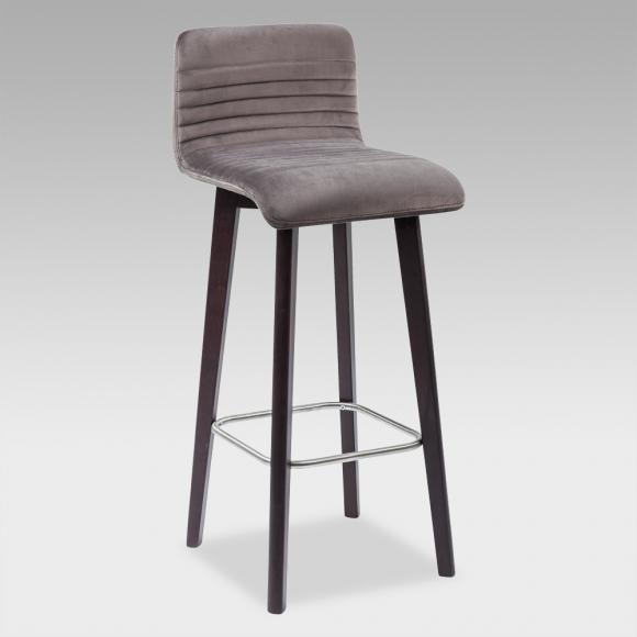 KARE Design Lara Barhocker B: 425 H: 980 T: 460 mm, wenge/silber 81235