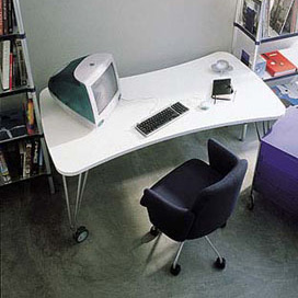kartell max schreibtisch mit rollen 45112m reuter onlineshop. Black Bedroom Furniture Sets. Home Design Ideas