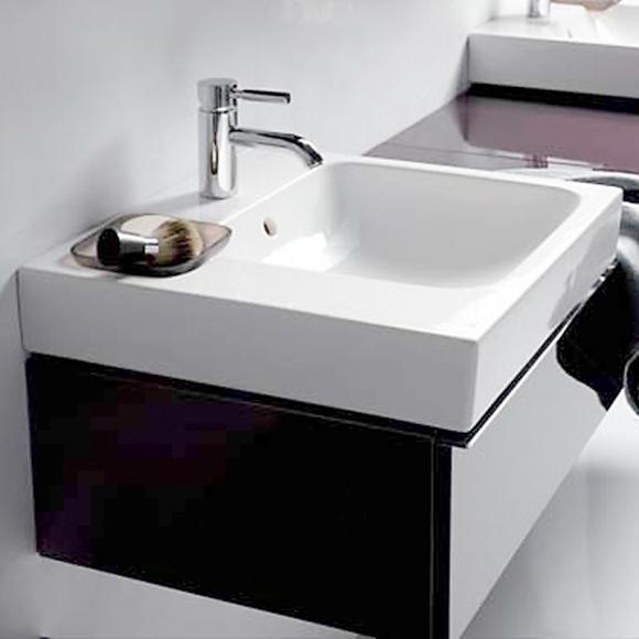 keramag icon waschtisch 50 x 48 5 cm mit dekoschale links. Black Bedroom Furniture Sets. Home Design Ideas