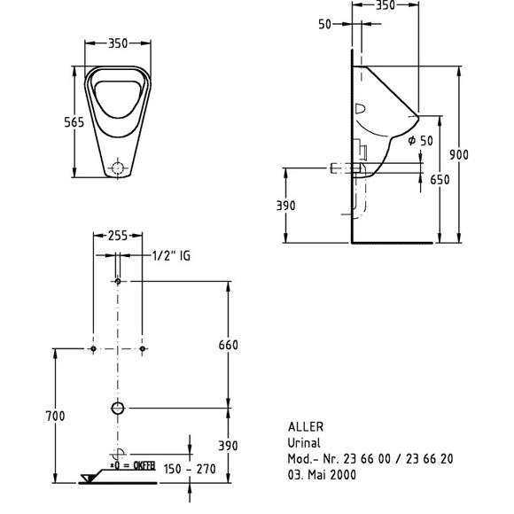 keramag aller urinal b 35 h 56 5 t 35 cm wei 236600000 reuter onlineshop. Black Bedroom Furniture Sets. Home Design Ideas