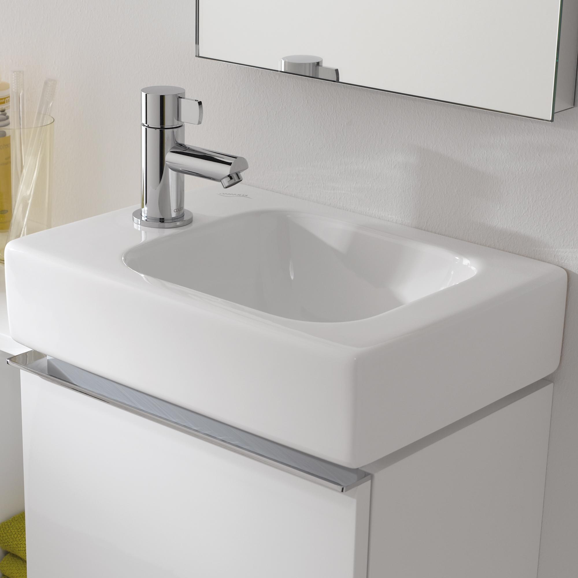 keramag icon handwaschbecken wei mit keratect 124836600 reuter onlineshop. Black Bedroom Furniture Sets. Home Design Ideas