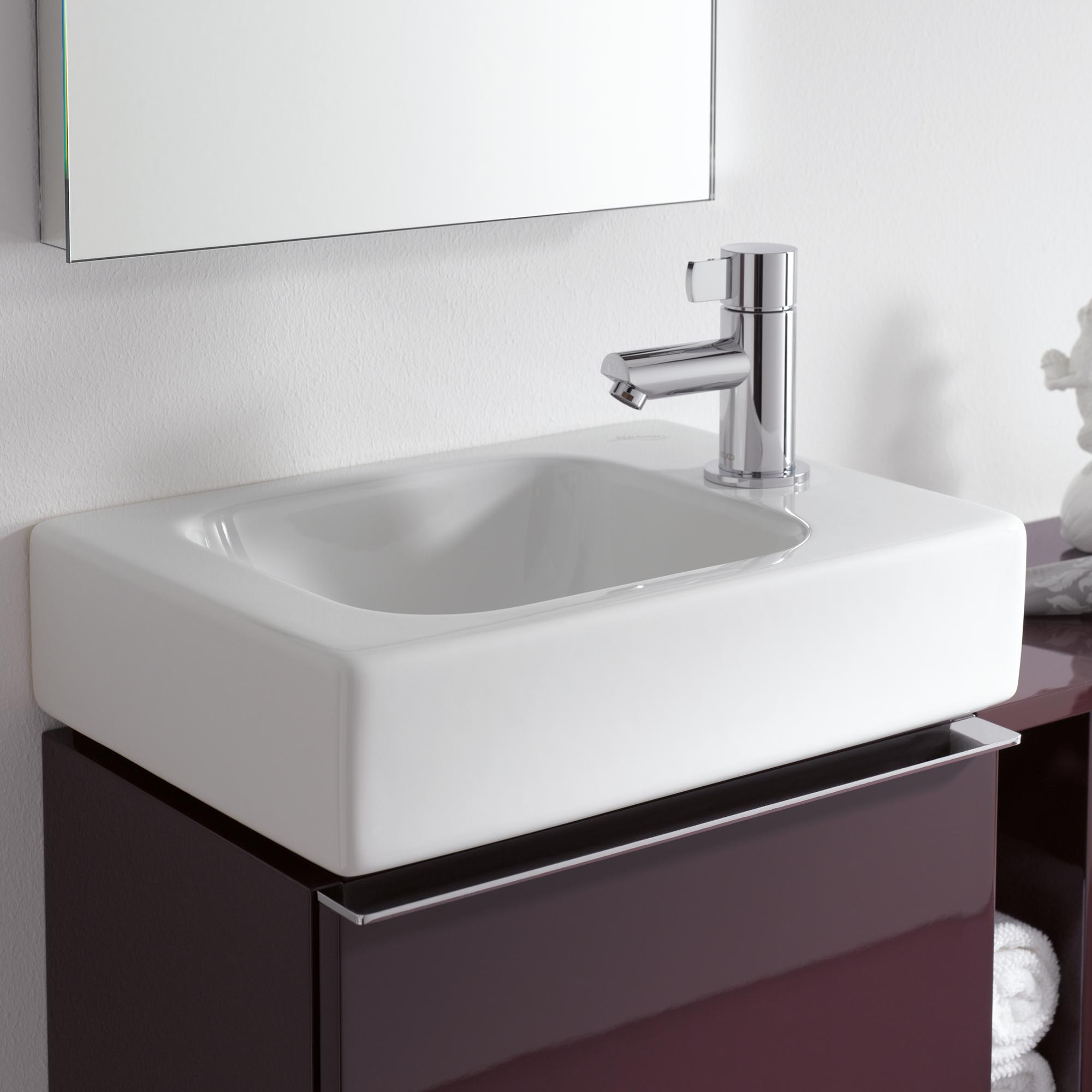 keramag icon handwaschbecken wei mit keratect 124736600 reuter onlineshop. Black Bedroom Furniture Sets. Home Design Ideas
