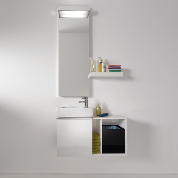 keramag icon xs handwaschbecken unterschrank front und korpus alpin hochglanz 840037000. Black Bedroom Furniture Sets. Home Design Ideas