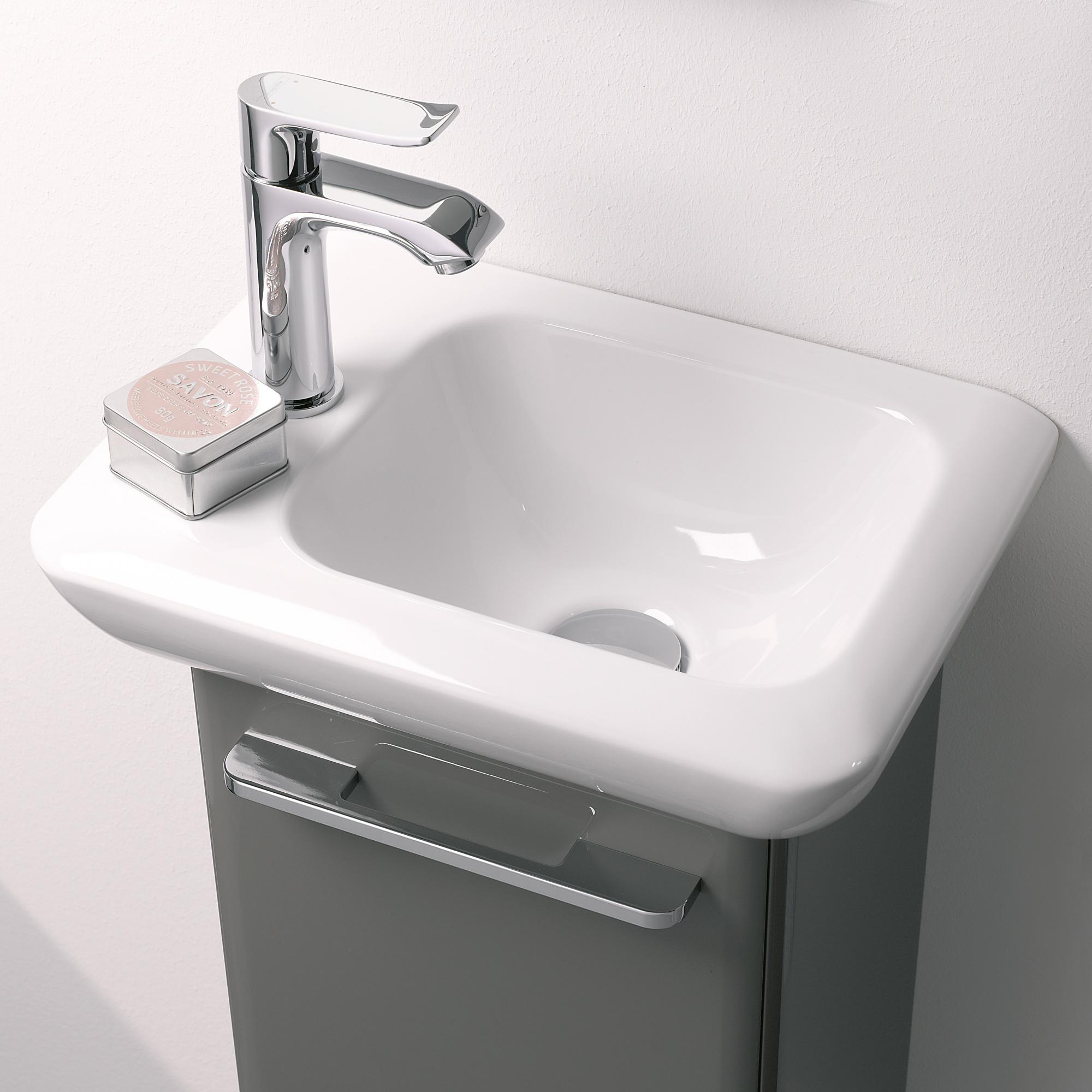 keramag it handwaschbecken wei mit 1 hahnloch links ohne berlauf 272940000 reuter onlineshop. Black Bedroom Furniture Sets. Home Design Ideas