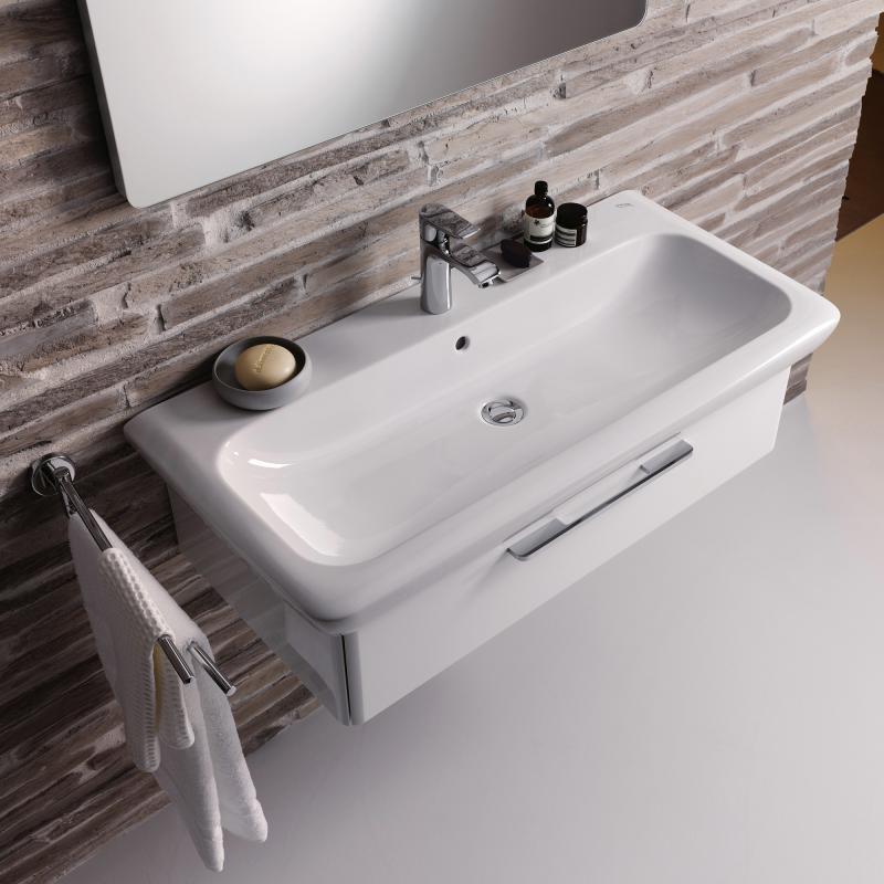 keramag it waschtisch wei mit keratect mit 1 hahnloch. Black Bedroom Furniture Sets. Home Design Ideas