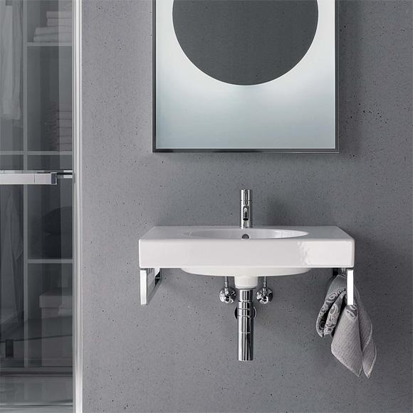 keramag preciosa ii waschtisch wei mit keratect mit 1 hahnloch mit berlauf 123260600. Black Bedroom Furniture Sets. Home Design Ideas