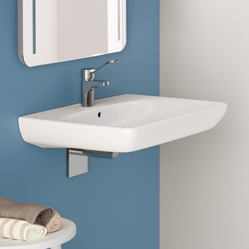 keramag renova nr 1 comfort waschtisch 55 cm unterfahrbar mit hahnloch mit berlauf wei. Black Bedroom Furniture Sets. Home Design Ideas