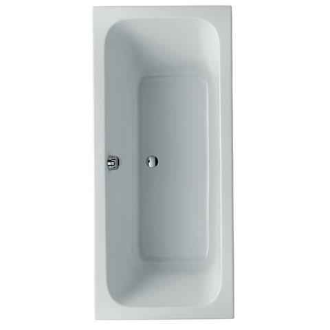 Keramag Renova Nr. 1 Rechteck Badewanne, Ab- und Überlauf mittig rechts weiß - 657380000 ...