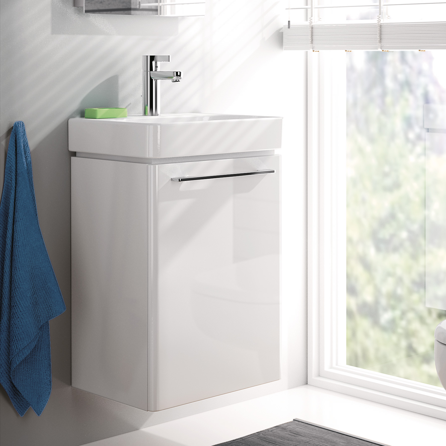 keramag smyle handwaschbecken unterschrank b 43 4 h 62 5 t 34 9 cm front und korpus wei. Black Bedroom Furniture Sets. Home Design Ideas