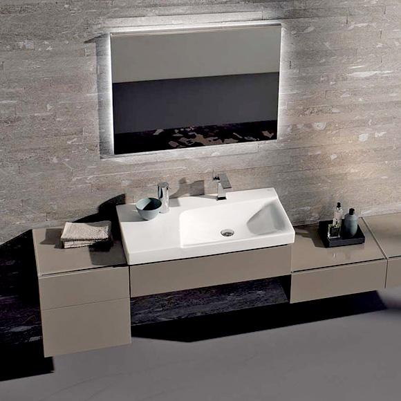 keramag xeno waschtisch mit ablagefl che wei mit 1 hahnloch ohne berlauf 127290000. Black Bedroom Furniture Sets. Home Design Ideas
