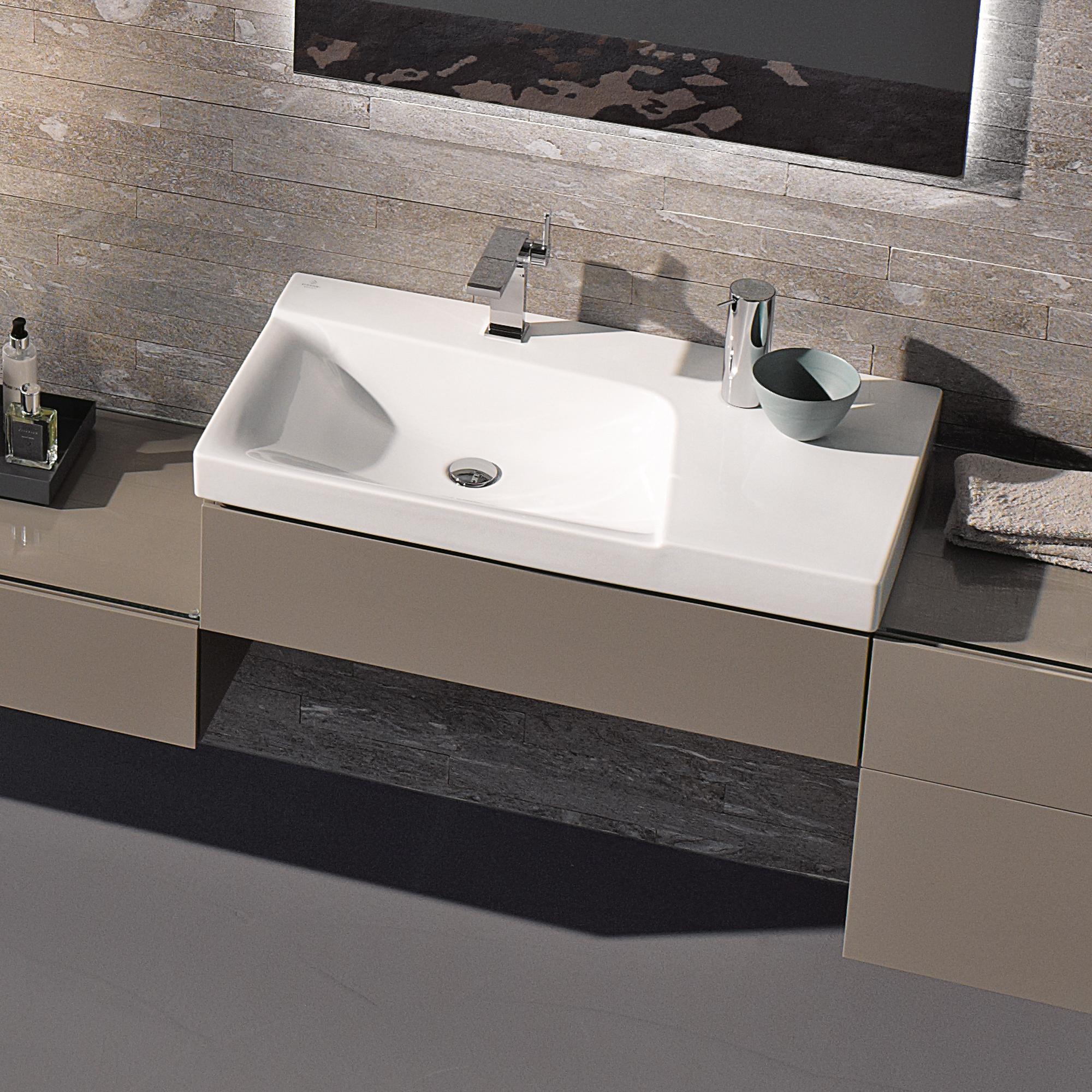 keramag xeno waschtisch mit ablagefl che wei mit. Black Bedroom Furniture Sets. Home Design Ideas