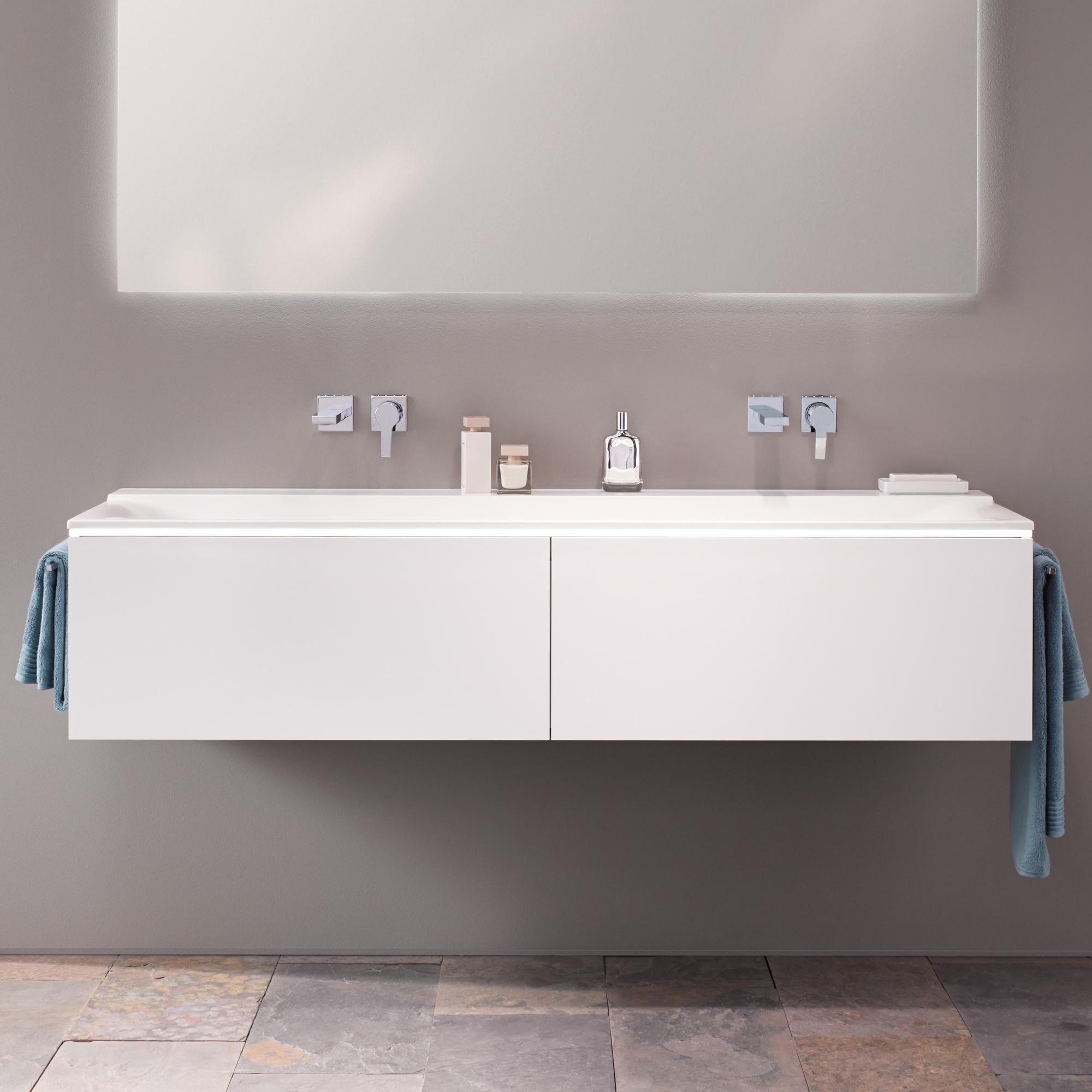 keramag xeno waschtischunterschrank mit led beleuchtung und 2 schubladen front und korpus wei. Black Bedroom Furniture Sets. Home Design Ideas