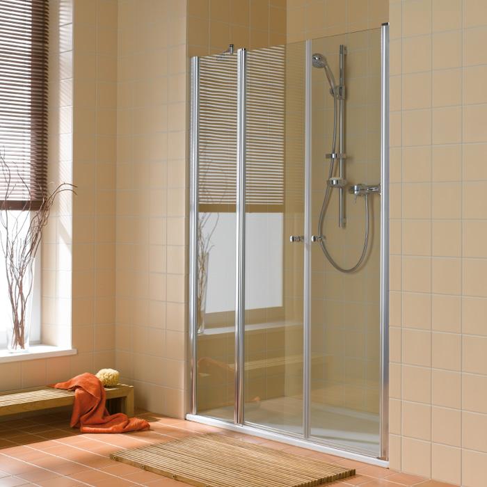 kermi atea pendelt r mit festfeld esg transparent mit kermiclean silber hochglanz. Black Bedroom Furniture Sets. Home Design Ideas