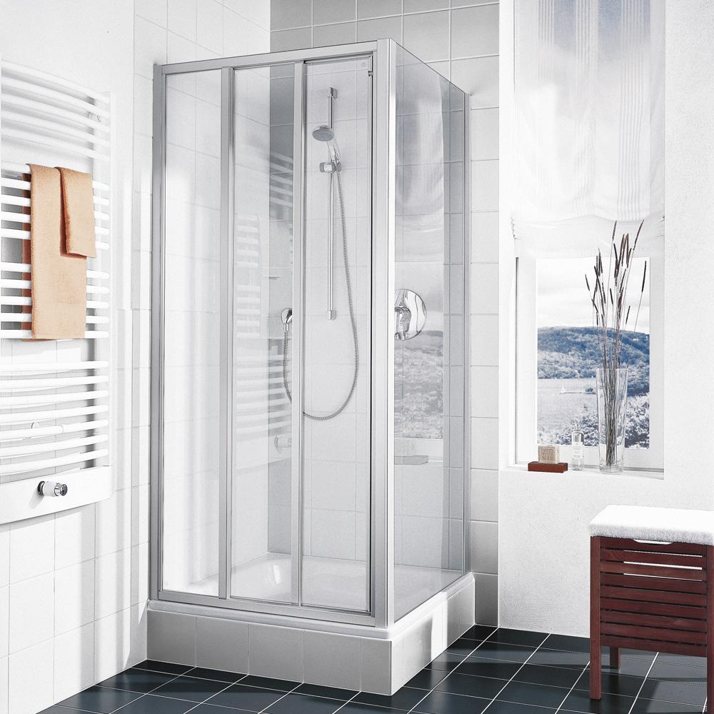 kermi ibiza 2000 gleitt r 3 teilig mit festfeld esg transparent silber mattglanz. Black Bedroom Furniture Sets. Home Design Ideas