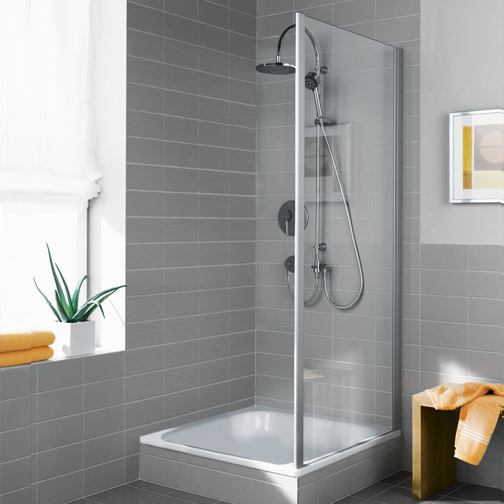 kermi ibiza 2000 seitenwand esg transparent silber mattglanz i2two090181ak reuter onlineshop. Black Bedroom Furniture Sets. Home Design Ideas