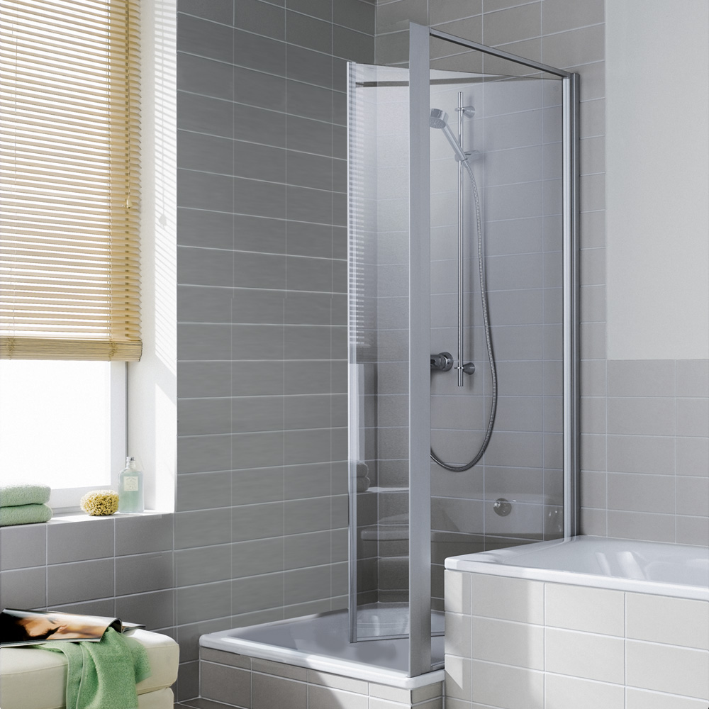 kermi ibiza 2000 seitenwand beweglich esg transparent silber mattglanz i2tbd090181ak. Black Bedroom Furniture Sets. Home Design Ideas