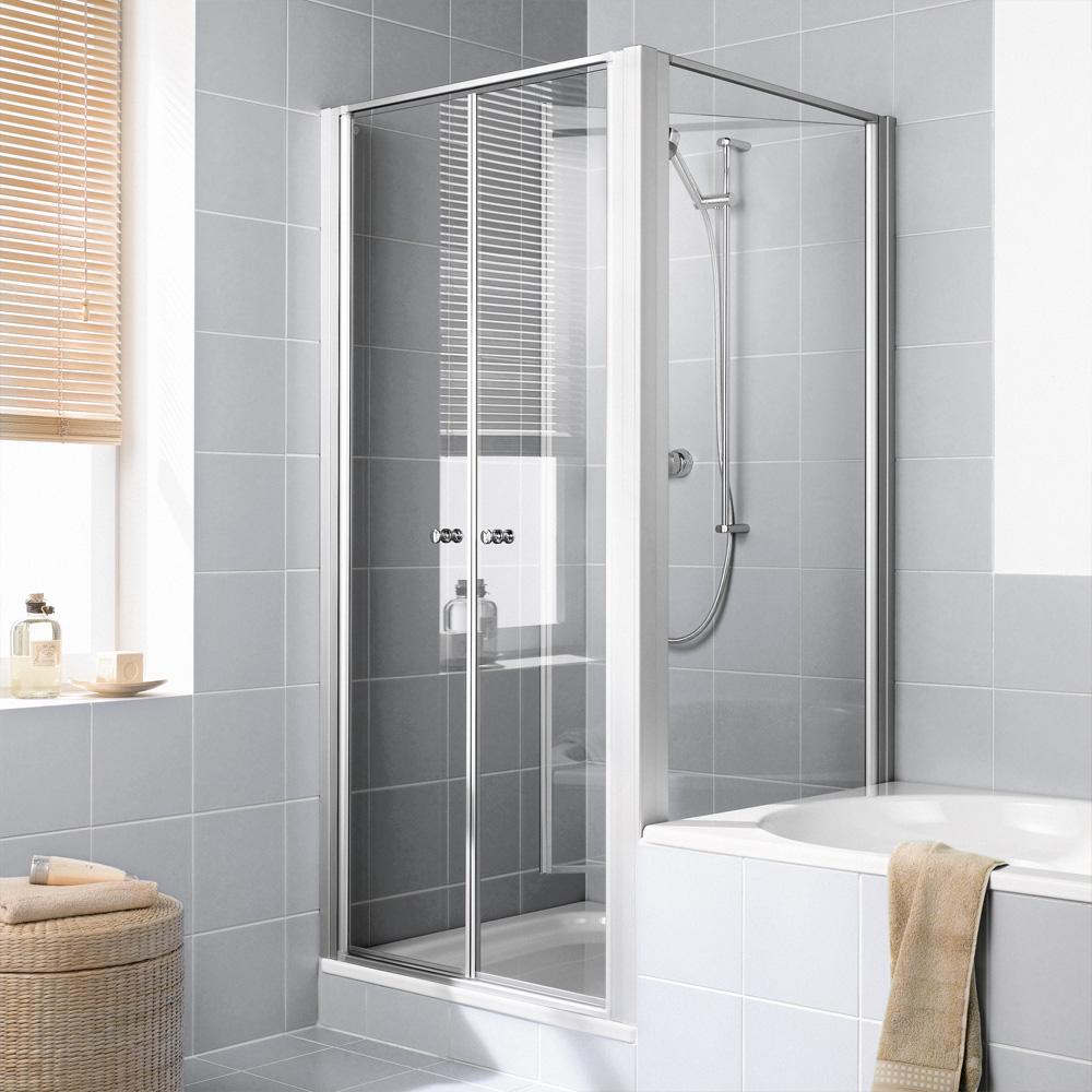 kermi ibiza 2000 seitenwand verk rzt beweglich auf badewanne esg transparent mit kermiclean. Black Bedroom Furniture Sets. Home Design Ideas