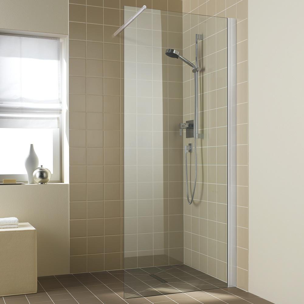 kermi ibiza 2000 walk in wall esg transparent mit kermiclean silber mattglanz i2twf140201pk. Black Bedroom Furniture Sets. Home Design Ideas