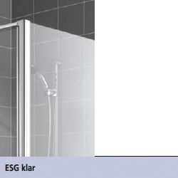 kermi vario 2000 faltwand 3 fl gelig auf badewanne esg transparent silber mattglanz. Black Bedroom Furniture Sets. Home Design Ideas