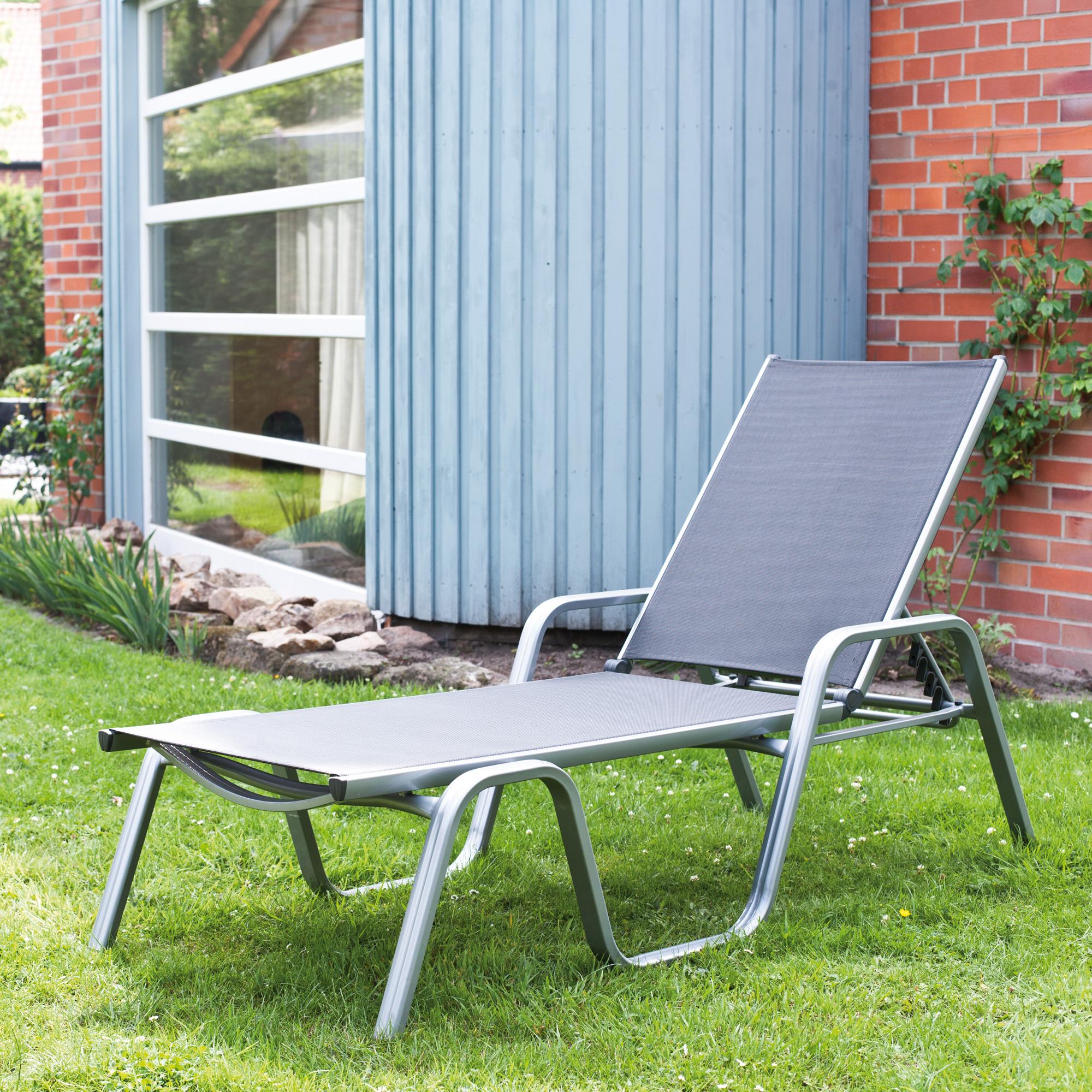 kettler basic plus sonnenliege stapelbar 0301214 0000. Black Bedroom Furniture Sets. Home Design Ideas
