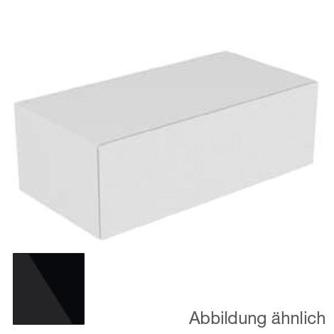 keuco edition 11 sideboard mit 1 auszug und 1 aufbewahrungsbox front glas schwarz korpus lack. Black Bedroom Furniture Sets. Home Design Ideas