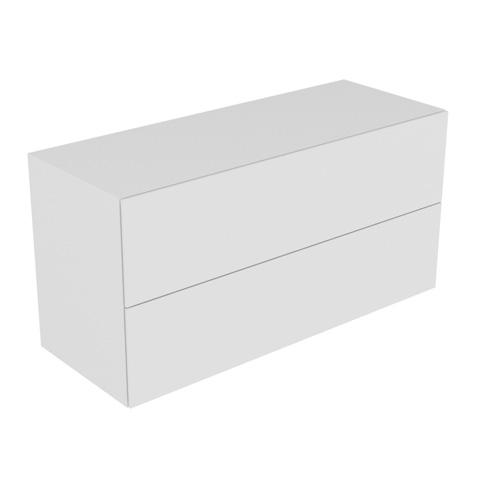 keuco edition 11 sideboard mit 2 ausz gen und 4 aufbewahrungsboxen front lack hochglanz wei. Black Bedroom Furniture Sets. Home Design Ideas