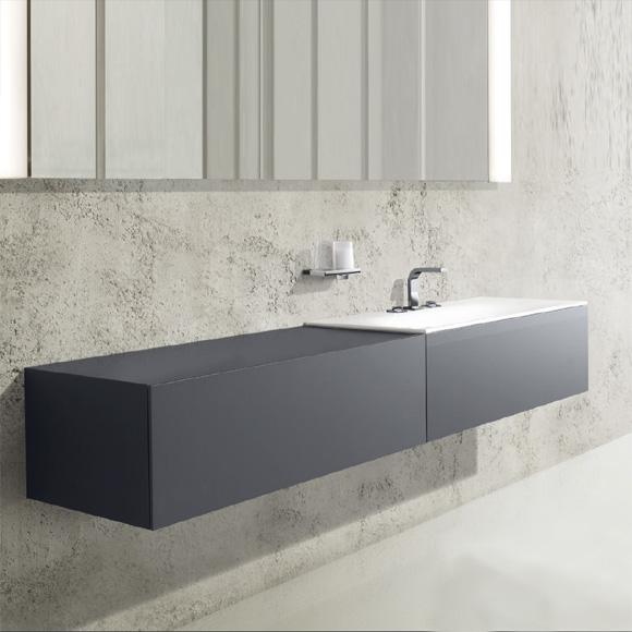 keuco edition 11 waschtischunterbau mit 1 auszug und 1 aufbewahrungsbox front strukturlack. Black Bedroom Furniture Sets. Home Design Ideas