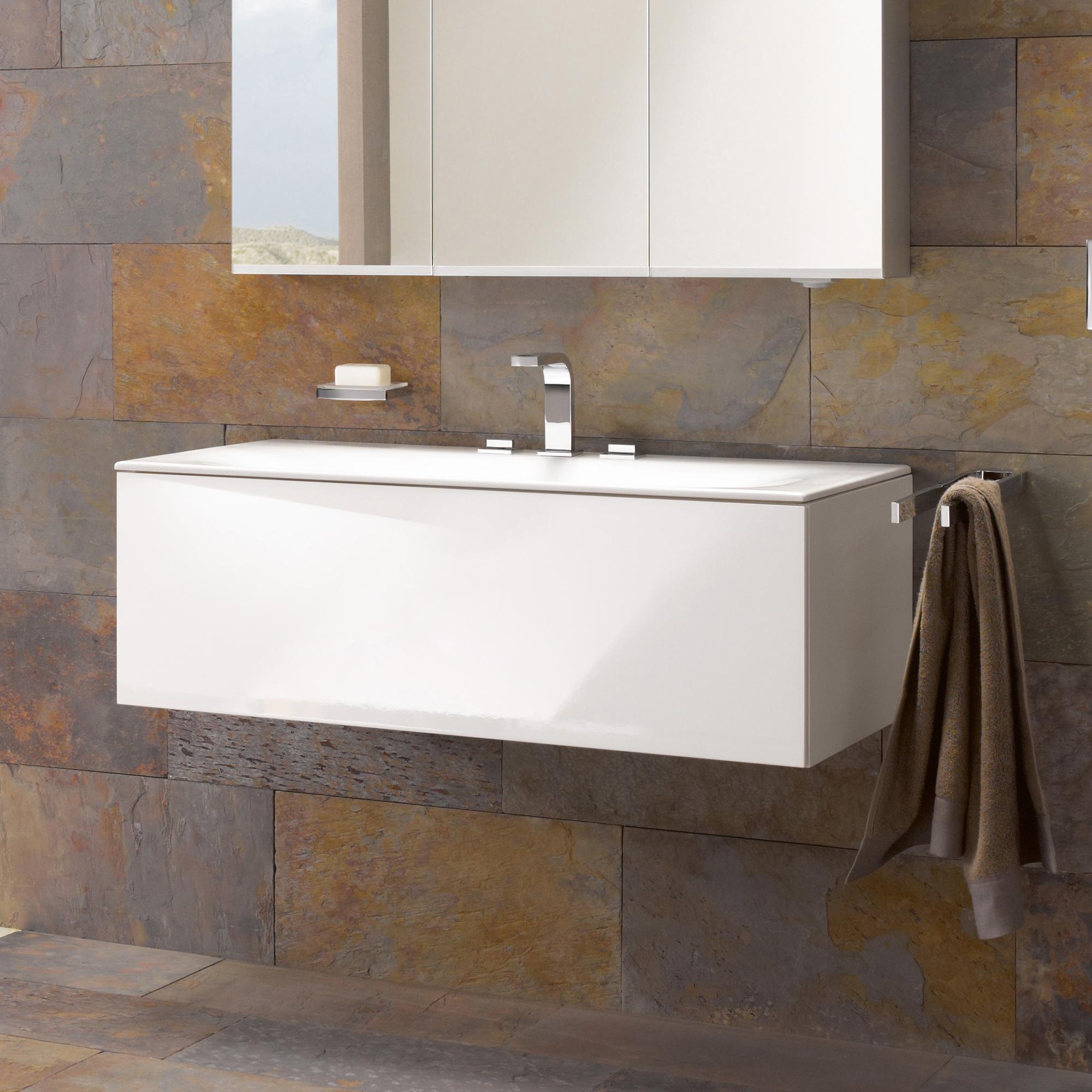 keuco edition 11 waschtischunterbau mit 1 auszug front lack hochglanz wei korpus lack. Black Bedroom Furniture Sets. Home Design Ideas