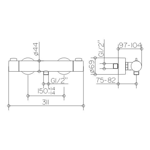 keuco plan blue brausemischer dn 15 53924010100 reuter onlineshop. Black Bedroom Furniture Sets. Home Design Ideas