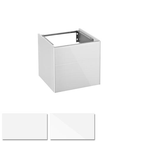 keuco royal reflex waschtischunterbau mit 1 t r front glas wei korpus wei glanz. Black Bedroom Furniture Sets. Home Design Ideas