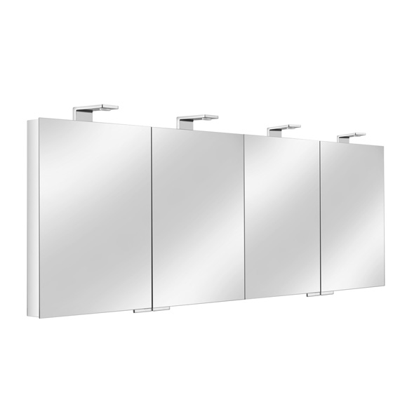 keuco royal universe spiegelschrank mit 4 t ren. Black Bedroom Furniture Sets. Home Design Ideas