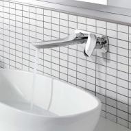 Kludi AMBA Unterputz-Waschtisch-Zweiloch-Wand-Einhebelmischer, Ausladung 226 mm
