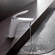 Kludi BALANCE Waschtisch-Einhandmischer ohne Ablaufgarnitur DN 10 chrom/weiß