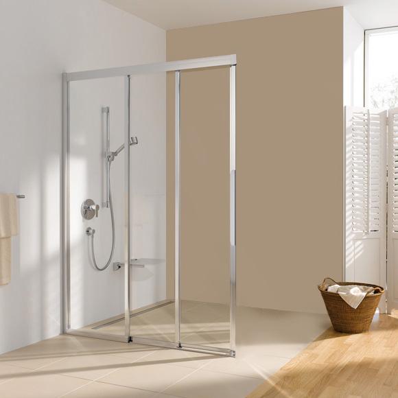koralle myday comfort schiebet r eckeinstieg 3 teilig esfbf3s halbteil esg transparent silber. Black Bedroom Furniture Sets. Home Design Ideas