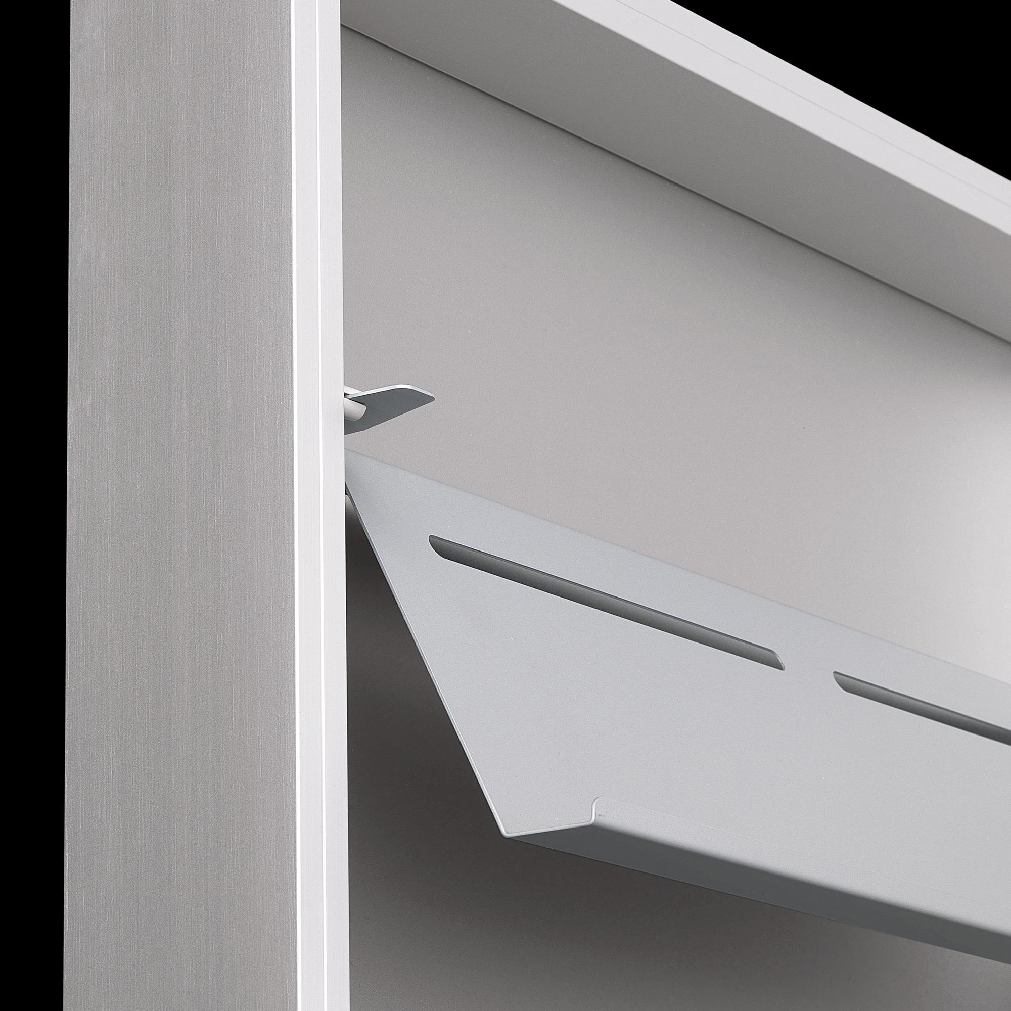 Kristalia foot box schuhschrank 20box01 aluminium for Schuhschrank aluminium