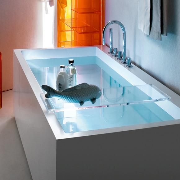 kartell by laufen ablage f r badewanne kristallklar. Black Bedroom Furniture Sets. Home Design Ideas