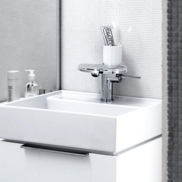kartell by laufen waschtischmischer mit deko disc und ablaufventil 3113310041111 reuter. Black Bedroom Furniture Sets. Home Design Ideas