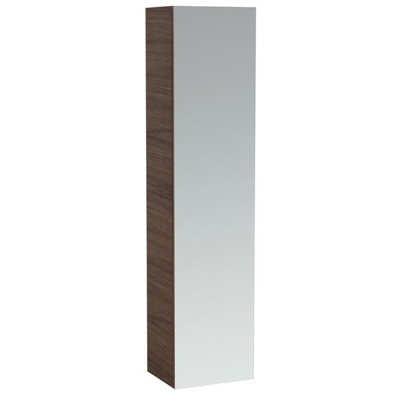 laufen alessi one hochschrank mit 1 spiegelt r und 4 ablagen noce canaletto 4580110976301. Black Bedroom Furniture Sets. Home Design Ideas