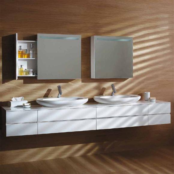 laufen alessi one waschtischunterbau f r aufsatzwaschtisch 4 schubladen wei lackiert. Black Bedroom Furniture Sets. Home Design Ideas